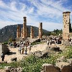 Delphi ruins overview Temple of Apollo (17988759)