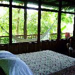 Our room with hammock balcony