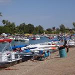 channel packed with boats on Memorial Day