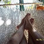 Hanging out in the hammock!  So relaxing!