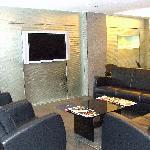 Internet cafe lounge area
