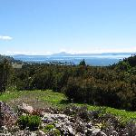 View of Lake Taupo from Omori Lake House Patio