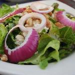 Salad at Crab Cakes