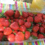 the best strawberries ever from the market on Amelia Island
