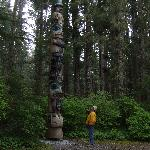 Giant totems in beautiful forested settings