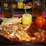 Satay steak, crab YUM!!!!