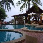 Zazen pool area