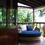 Bed on our private terrace