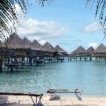 Overwater Bungalows near the beach