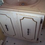 bathroom sink cupboard