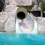 My brother on the Cancun waterslide