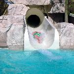 High Velocity Exit on Cancun waterslide