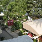 View from our room overlooking The Leut Restaurant, and Cavtat town square
