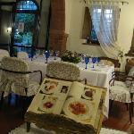 The Quaint Tuscan Decor Inside the Restaurant