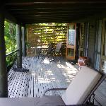 This was our deck area!