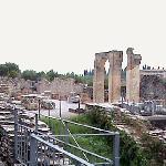 roman ruins on doorstep