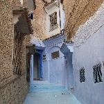 A medina alley in blue