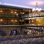 Tiered balconies in the original hotel atrium