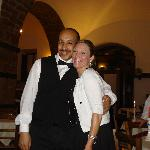 trattoria etrusca - the egyptian waiter and my sister, good food & service