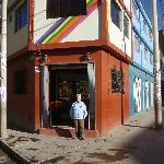 Street entrance of Hostal Santa Maria