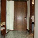 Door and entrance-way to bedroom