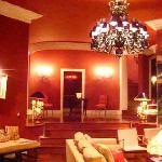 The luxurious lounge area at La Suite