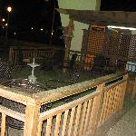 Deck area at front of hotel