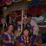 Us with Capt. Sax and his Tiki Bar