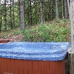 Hot tub on private patio