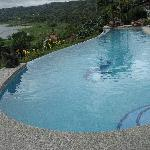 Infinity pool and Lake Arenal