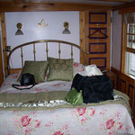 Our brass bed in the Master's Quarters