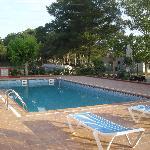 The hotel pool area.