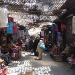 Market in Old Fez is a few steps away from the front door