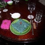 setting of the table