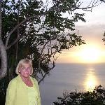 Cousin Sheri at sunset