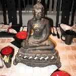 Buddha on the breakfast table