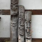 Some carvings in the courtyard