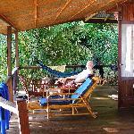 relaxing on our veranda