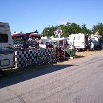 NHMS Camping- Nice set-up in the F lot by a fan
