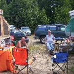 NHMS Camping- My Husband Kurt on the left and my brother inlaw on the right