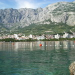 Makarska from the headland by the lighthouse