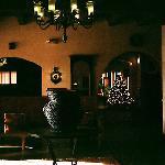 Interior scene, cool and dark