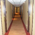 Clean secure corridor to room