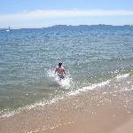 Taking a swim