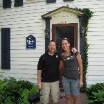 My wife and I in front of The Edridge House