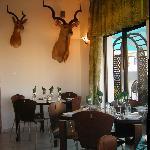 An internal view of the restaurant