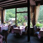 Dining room overlooking gardens
