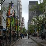 A rainy downtown Calgary