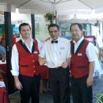 l to r Leonel, Pedro and Peter at the Tropicana