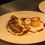 Pan Seared Loin of Venison, Parsnip Puree, Wilted Spinach, Truffle Mash, Pinot Noir Jus